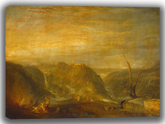 Turner, Joseph Mallord William: The Rape of Proserpine. Fine Art Canvas. Sizes: A4/A3/A2/A1 (003540)